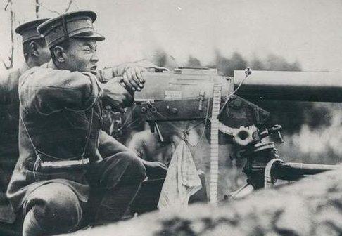 Китайские солдаты в обороне. Апрель 1932 г.