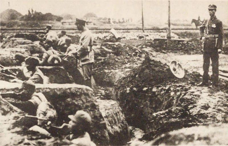 Окопы китайской армии. Апрель 1932 г.