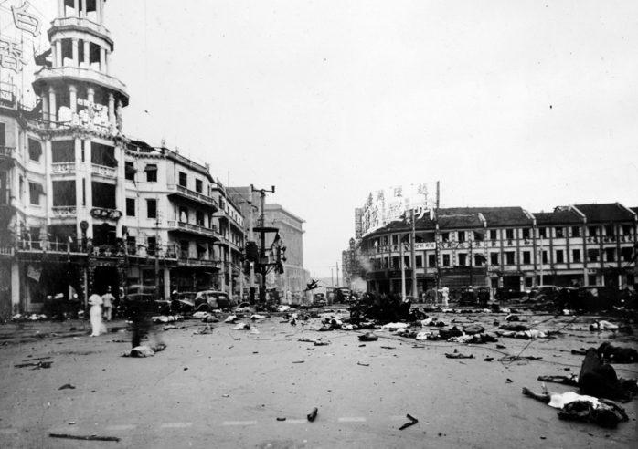 Последствие японской бомбардировки. 14 августа 1937 г.