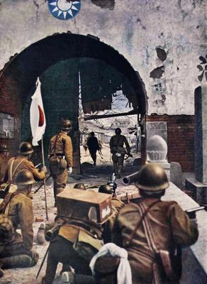 Японские солдаты на окраине города Пекина. Июль 1937 г.