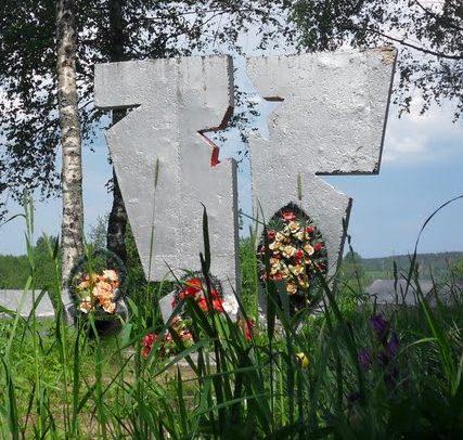 д. Сертея Велижского р-на. Памятник советским воинам.