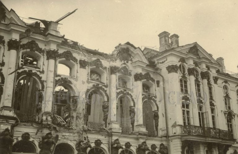 Разрушения в Царском селе.