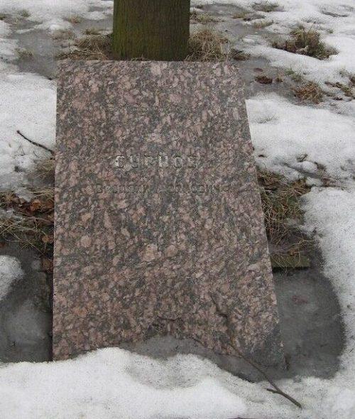 г. Демидов. Могила на площади Базарной Героя Советского Союза В.И.Суркова, погибшего в боях за город в 1943 году.