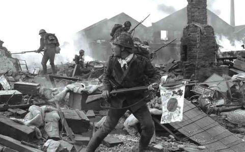Уличный бой в Шанхае. Октябрь 1937 г.