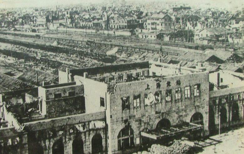 Северный вокзал после бомбардировки. 14 августа 1937 г.