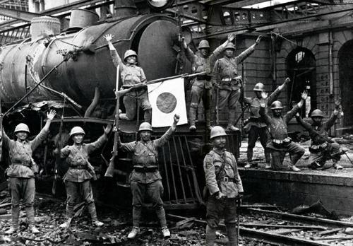 Японские войска в Шанхае. 1937 г.
