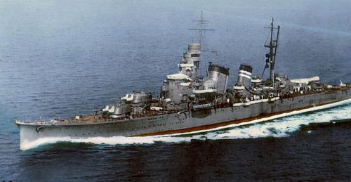 Японский крейсер «Haguro». 1942 г.