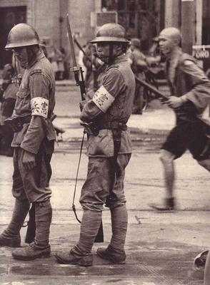 Японский Kempeitai (Корпус военной полиции) где-то в Китае 1937 г.