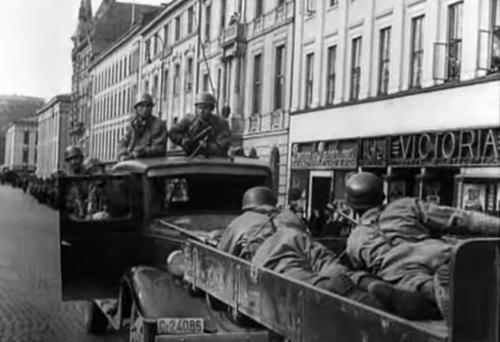 Десантники в столице Норвегии Осло, 9 апреля 1940 г.