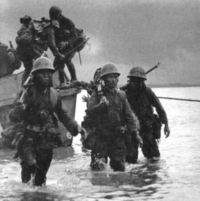 Японская пехота на Гуадалканале. Август 1942 г.