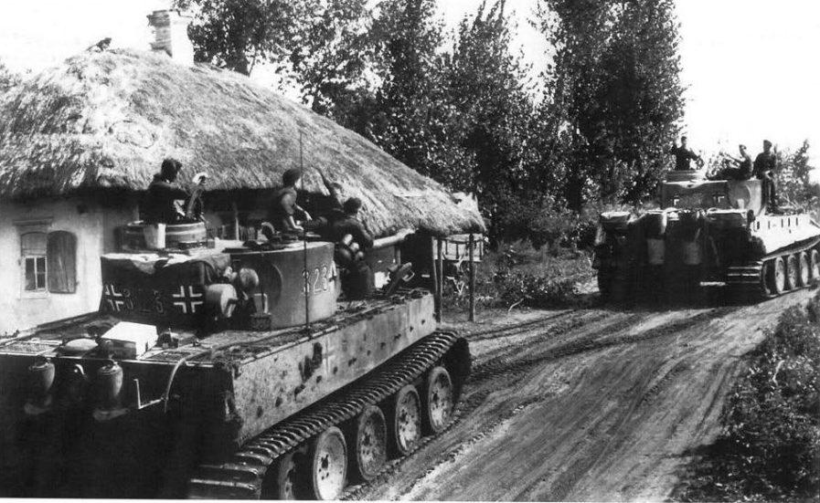 Испытание немецких «Тигров». Пробег танков. Сентябрь 1943 г.
