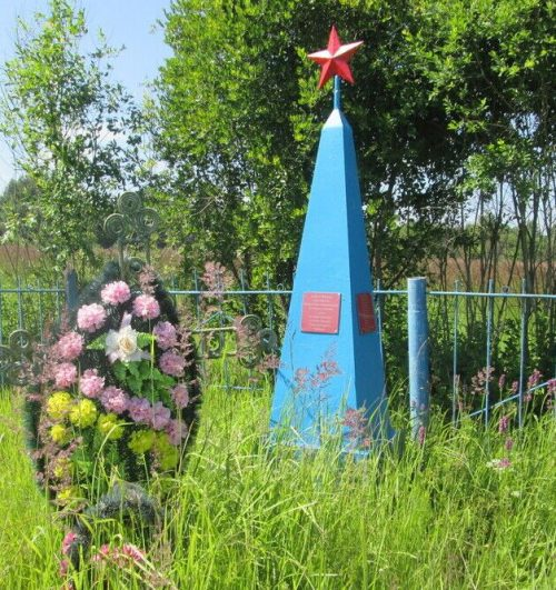д. Диво Демидовского р-на. Обелиск, установленный в 1967 году на братской могиле партизан, погибших в боях с оккупантами.