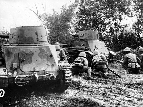 Атака японцев в районе Нанкина. Китай, 1937 г.