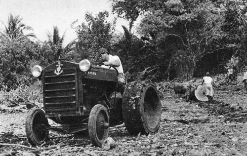 Японцы во время строительства аэродрома Гуадалканале. Июль 1942 г.
