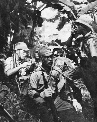 Японские снайперы на Гуадалканале. Август 1942 г.