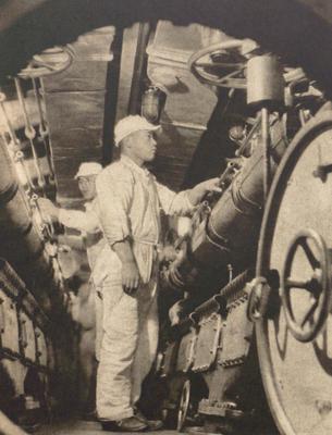 Японская подлодка I-19 во время кампании на Гуадалканале. Сентябрь 1942 г.