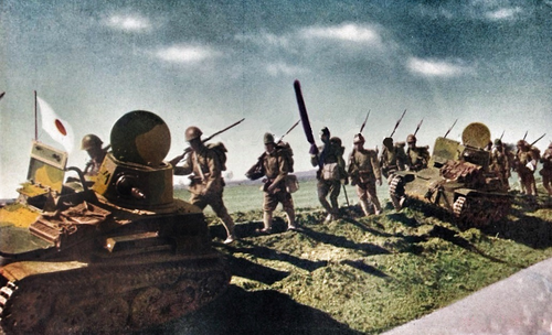 Танкетки Квантунской армии в антипартизанской операции в Маньчжурии. 1943 г.