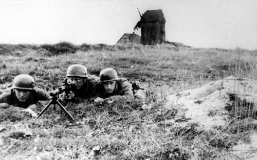 Парашютисты в Нидерландах. 2 июня 1940 г.