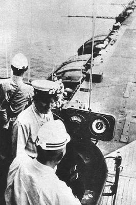 Офицеры авианосца «Сёкаку» во время кампании на Гуадалканале. 1942 г.