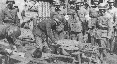 Помощь раненым китайским солдатам. Сентябрь 1937 г.