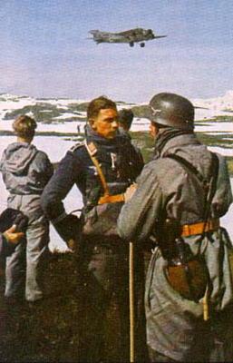 Немецкие десантники в Норвегии. 1940 г.