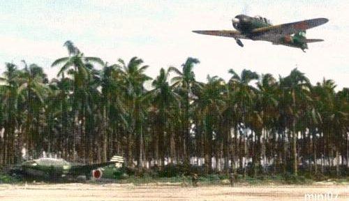 Самолеты императорского флота на базе в Рабауле. 1943 г.