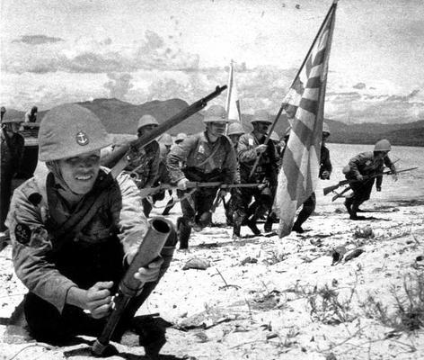 Вторжение японцев на остров Рабаул. Новая Гвинея, январь 1942 г.