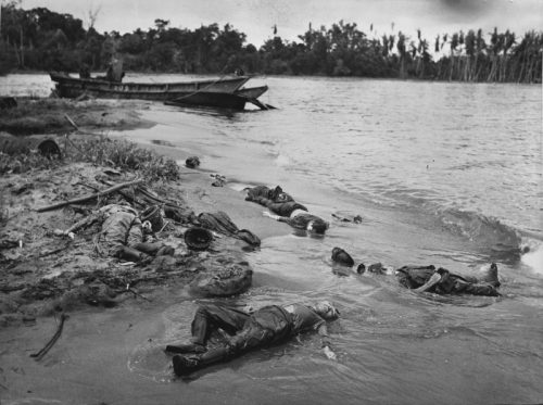Японские солдаты, убитые на Новой Гвинее в районе Буны. Март 1943 г.