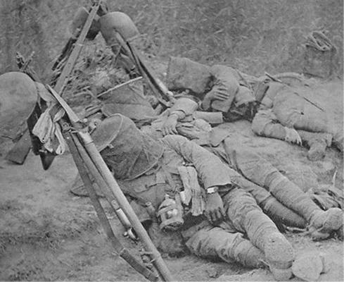 Японские солдаты спят в противомоскитных сетках. Бирма, 1943 г.