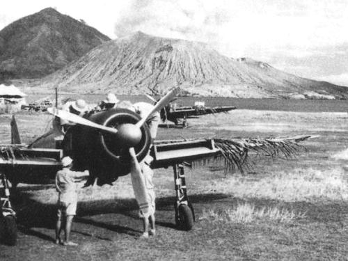 Авиабаза в Рабауле. 1942 г.