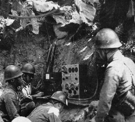 Армейская радиостанция. Индия, 1943 г.