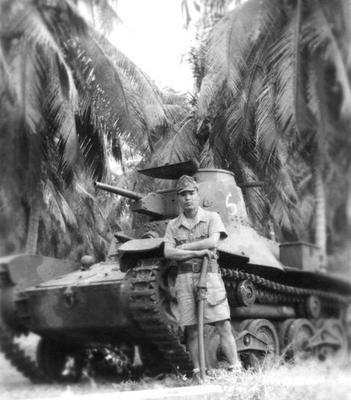 Командир легкого танка Type 95. Южная часть Тихого океана, 1943 г.