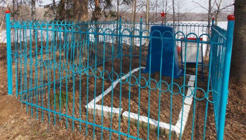 д. Рудня Демидовского р-на. Братская могила партизан, погибших в борьбе с оккупантами.