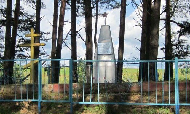 д. Щукино Демидовского р-на. Братская могила 258 советских воинов, погибших в годы войны.