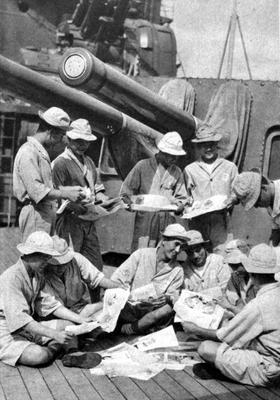 Моряки на отдыхе. Соломоновы Острова, 1942 г.