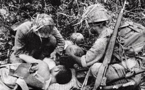Раненый японский солдат. Филиппины, 1944 г.