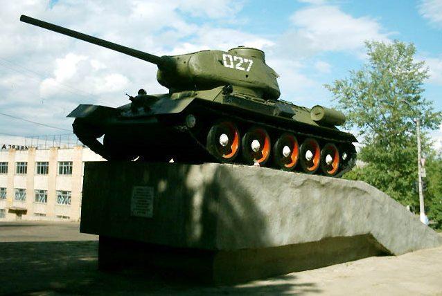 г. Дорогобуж. Памятник воинам-танкистам, установленный в 1967 году.