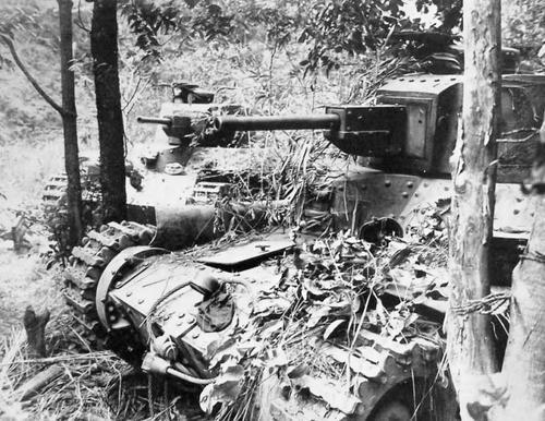 Японские танки Chi-Ha. Филиппины, 1944 г.