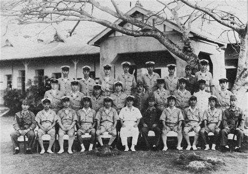 Офицерский состав японского гарнизона острова Сайпан. 1944 г.