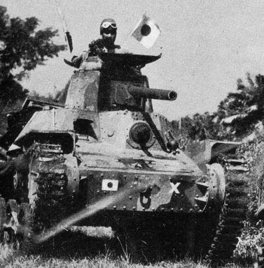 Танки во время вторжения в голландскую Ост-Индию. 1942 г.
