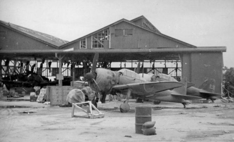 Захваченный японский аэродром на острове Сайпан. Июль 1944 г.