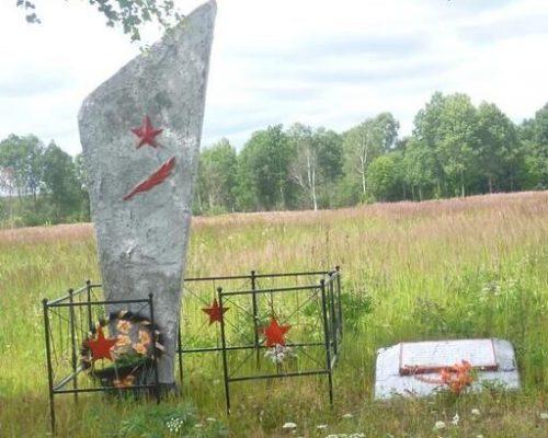 д. Вердино Духовщинского р-на. Памятное место, где в 1943 году при освобождении района 134 стрелковая дивизия вела бои.