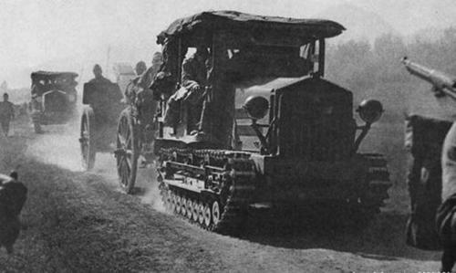 Моторизированная артиллерия. Апрель 1944 г.