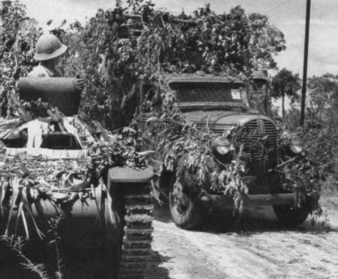 Закамуфлированная военная техника. 1944 г.