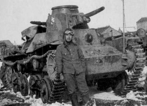 Японский танк Ха-го на Хоккайдо, зима. 1944 г.