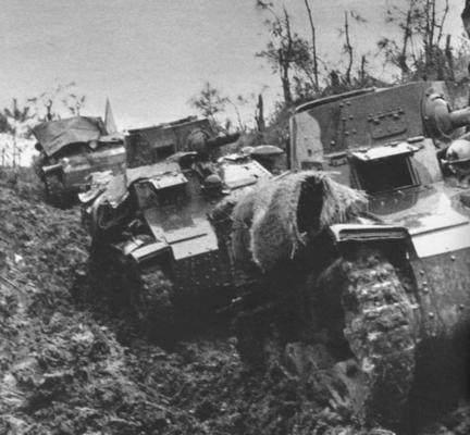 Танкетки 5-й дивизии во время вторжения в Малаю. 1942 г.