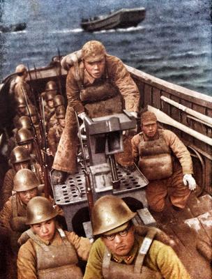 Солдаты 16-й дивизии во время вторжения на Филиппины. 1942 г.