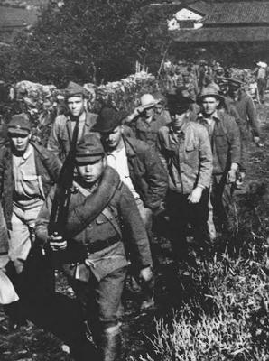 Американцы в плену. Манила, 1942 г.
