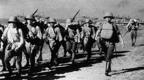 Японские солдаты на Лусоне. Филиппины, 1942 г.