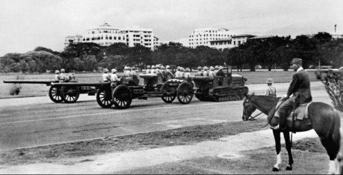 Японские войска во время парада в Маниле. Май 1942 г.